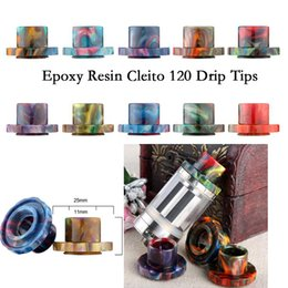 Wholesale E Cigarette Tips Dhl - High Quality Vape Epoxy Resin Drip Tips Cleito 120 Drip Tips for Cleito 120 RDA Atomizer Tank e cigarette DHL Shipping