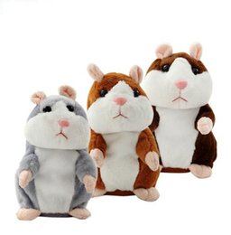 Wholesale Stuffed Animals Anime - Talking Hamster Talk Sound Record Repeat Stuffed Plush Animal Kids Child Toy Talking Hamster Plush Toys KKA2362