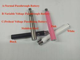 2019 evod batterie passthrough Handbuch Evod Ce3 USB Passthrough Batterie 350mAh mit variabler Spannung PreHeat Funktion Batterie für Knospe CE3 Patrone O Stift Vape Tank rabatt evod batterie passthrough