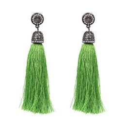 Wholesale Pink Chandelier Jewelry - 2017 bohemian tassel earrings hanging drops for women statement earrings green vintage dangle earring jewelry