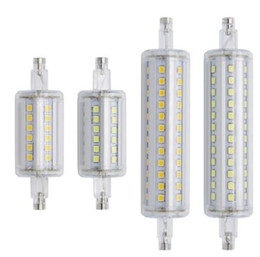 Wholesale High Efficiency Led - R7S LED Light Lamps Extruded Aluminum 360 Degree Angle Replace AC85-265V Spotlights High Efficiency Led Lights OED-S2835