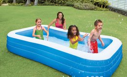 Wholesale Family Swimming Pools - Wholesale- Big Size Pool Adult family splashing ocean balls sand tub kids Portable Inflatable swimming pool children bathtub 305x183x56CM
