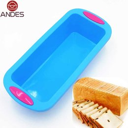 Wholesale Pastry Trays - Wholesale- Baking tray 28*12.5*6.5cm 160G Big and Beautiful Double Color Silicone Cake Mold DIY Baking and Pastry Tools