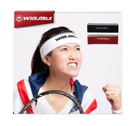 Wholesale Tennis Head Band - WINMAX New Breathable & Elastic Cotton Towel Head Sweat Band for Tennis Badminton Basketball Running Sports Sweatband