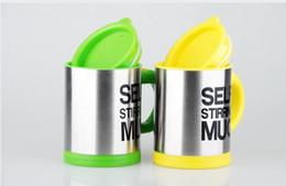 Criativo 400ML Electric Shaker Blender Auto Mixing Coffee Cup Inoxidável Lazy Self Stirring Mug Chá Café Milk Cup Garrafa de água de