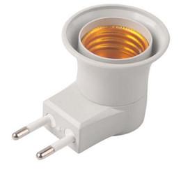 2019 bajonettlampe Neue E27 LED Licht Lampe stecker auf EU Typ Stecker Adapter Konverter ON OFF Taste Halter