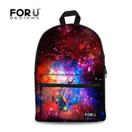 Wholesale Travel Backpack Cooler - Wholesale- FORUDESIGNS Women Backpacks Cool Colorful Galaxy Star Canvas Bagpack for Teenager Girls Casual Travel Daypacks Laptop Rucksack
