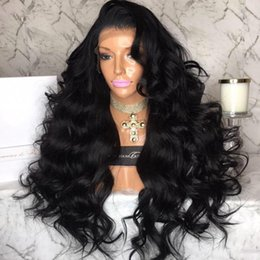 Wholesale French Long Hair - Brazilian Silk Base Glueless Full Lace Wigs Body Wave Wavy Lace Front Wigs With Baby Hair 130 Density Bleached Knots For Black Women