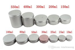 Wholesale Metal Lip Gloss Case - 2017 Different Size Empty Containers Container Aluminium Jar Tea Cans Aluminum Box Cases Makeup Empty Lip Gloss Jars Cosmetic Jars Box