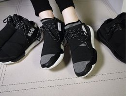 Wholesale Thick Genuine Leather Fabric - 2016 fashion high quality top y3 sports recreational shoe leather with thick soles big yards couples running shoes