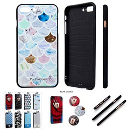 Wholesale Plaid Phone Cases - Super Hero 3D Stereoscopic Emboss Soft TPU Luxury Silicone Phone Case For iPhone 7 6 6s Plus Plaid Pattern Color Print Cartoon Case