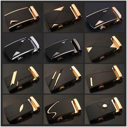 Wholesale Head Horses - Luxury Brand Designer Men Belt Buckle Male Kemer Metal Automatic Buckle Heads High Quality Gold Horses Buckles