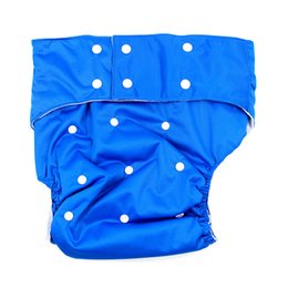 Wholesale Diaper Adults Wholesale - Wholesale- Dark Blue adjustable Adult Cloth Diaper for disabled old women and men reusable medical Solid Color adult diaper Cloth Nappy