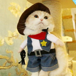 Wholesale Wedding Jeans - Creative Pets Costumes Dog Clothes Pet Supplies Dogs Vertical Standing Cute Look Clothing Plenty Roles Dress Patterns 4 Sizes Jeans Look