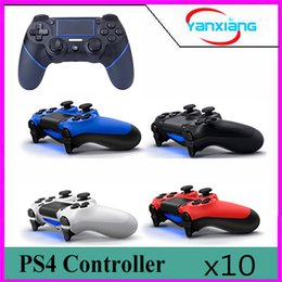 Wholesale Computer Game Handle - 10pc Wireless Bluetooth Gamepad Game Controller For PlayStation 4 For Dualshock 4 Interface Computer Laptop Gaming Play Game Handle BX-PS4-1