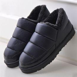 Wholesale Platform Ankle Boots Wholesale - 2016 Plus Size 35-44 Men and Women Winter Snow Boots Warm Flat and Waterproof Ankle Boots Platform Home Shoes