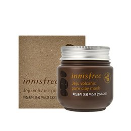 Wholesale Volcanic Clay - Korea Brand Innisfree Jeju Volcanic Pore Clay Mask Peel Off Peel Black Head Mud Mask Blackhead Remover Deep Care Cleansing