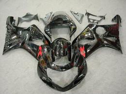 Carénages en plastique GSXR1000 2000 Kits de carrosserie GSXR 600 750 1000 02 03 Kits de carrosserie noirs GSXR600 2003 2000 - 2003 K1 K2 ? partir de fabricateur