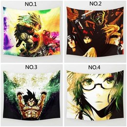 Wholesale Wall Dragon Decor - Fashion Tapestry of Super Animation Dragon Ball Wukong Beta Cartoon Print Hanging Wall Decor Towel Hanging Home