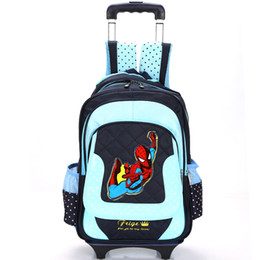 Wholesale Travel Suitcase Children - Kid's Trolley Bag on wheels Girl's travel Luggage bag Suitcase For Boy's Children School Trolley Backpack Rolling Bag