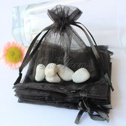 """Wholesale Black Organza Jewelry Bags - Brand New 100 pcs lot Black 3""""x3.5"""" 7cm x 9cm Strong Sheer Organza Pouch Wedding Favor Jewelry Gift Candy Bag"""