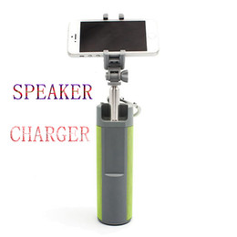 Wholesale Iphone Audio Power - Bluetooth Wireless Portable speaker Selfie stick Outdoor subwoofer Multifunctional Power Charge for Iphone 7 SAMSUNG S8 Handfree TF Card