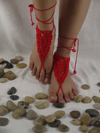 Wholesale Sexy Shoes Skulls - 13 color Skull Barefoot sandals Handmade crochet Barefoot sandals, Nude shoes ,Bridal,Victorian lace,sexy,yoga,Anklet