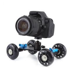 Wholesale Track Dolly For Dslr - Universal 4 Wheel Desktop Vedio Rail Track Slider Dolly Car for DSLR Camera Camcorder Sport Action Camera