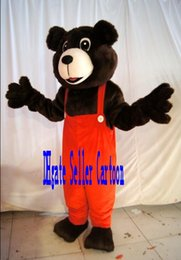 Wholesale Cartoon Character Costume Bear - High-quality Real Pictures Deluxe brown bear Mascot Costume Mascot Cartoon Character Costume Adult Size Christmas Clothing anime costumes ad