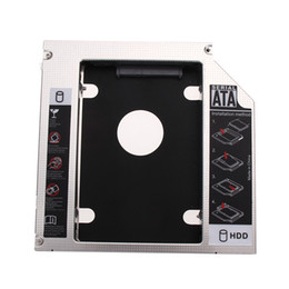 Wholesale Computer Hard Drives Wholesale - Wholesale- Aluminum 12.7mm HDD Enclosure Second SATA Computer Hard Drive Adapter Bay Caddy New Promotion