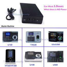 UPS para el software ZK U160 ZKTeco TX628 iclock360 VF360 5V Mini batería de atención de huellas dactilares para el registrador cuando se apaga desde fabricantes
