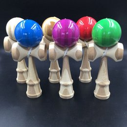 Wholesale Kendama Toy Blue - 2017-high quality Professional Bamboo Kendama Toy Bamboo Kendama Skillful Juggling Ball Toy For Children Adult Colors Random Christmas Toy