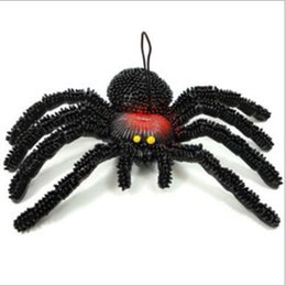 Wholesale Prank Spiders - Wholesale-2015 Funny Halloween Toys For Children Spider Simulation Toys Tricky Scary Toy Prank Gift Model Strange New Toy Prank