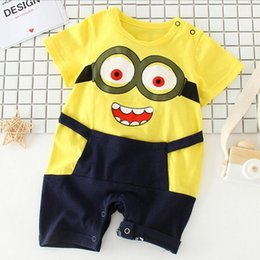 Wholesale Male Infant Clothes - Children's clothing, infants and young children, short sleeved summer clothing, clothing, male and female cartoon climbing clothes
