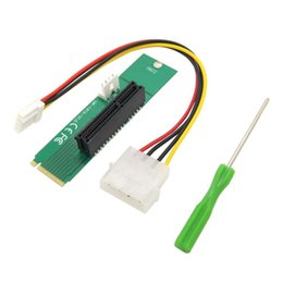 Wholesale Power Cable Network - PCI Express pci-express PCI-E 4X x4 Female to NGFF M.2 M Male Network Adapter Key Power Cable with Converter Card