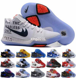 Wholesale Blue Ball Game - 2017 New Arrival Kyrie Irving 3 III Signature Game Basketball Shoes For Men Sports Mens Kyrie 3s Air Cushion Training Basket ball Sneakers
