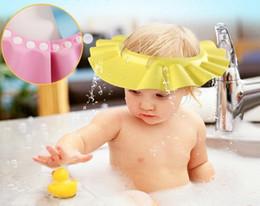 2019 оптовые персы для волос Регулируемая шапочка для душа защитить шампунь для здоровья ребенка купания ванна водонепроницаемый шапочки hat ребенок ребенок дети мыть волосы щит Hat A0312