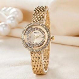 Wholesale Nude Beautiful - Fashion beautiful Brand Women's Girls crystal style dial Stainless steel band Quartz wrist Watch 6718