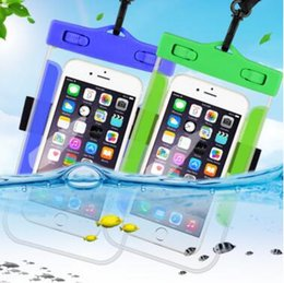 Wholesale Dive Compass - 2017 Dry Bag Waterproof bag PVC Protective Mobile Phone Bag Pouch With Compass Bags For Diving Swimming Sports For iphone 6 6 plus S7 NOTE 7