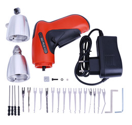 Wholesale klom cordless electric pick gun - KLOM Cordless Electric Lock Pick Gun Auto Pick Guns Lock picking Set Locksmith Tools Electric Lock Pick Gun