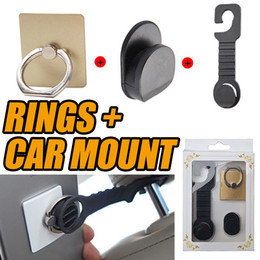 Wholesale Mobile Phone Hanging Holder - Universal Car Hook Car Holder Cell Phone Mounts for Mobile iphone samsung Hanging Holder Reatail Package