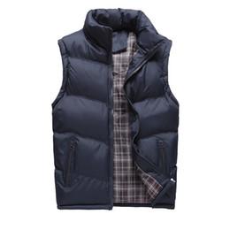 Wholesale New Fashion Waistcoat - Wholesale- New Brand Mens Vest Jacket Sleeveless Veste Homme Autumn Winter Fashion Casual Coats Male Cotton Men's Vest Thick Waistcoat 4XL