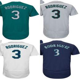 Wholesale Alex White Baseball - 2017 Hot Sale Mens Seattle 3 Alex Rodriguez Jersey Flexbase Cool Base Green White Grey Stitched Baseball Jerseys Cream
