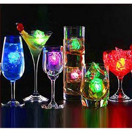 Wholesale Led Bar Ice Cubes - Flash Ice Cube Water Actived Flash Led Light Put Into Water Drink Flash Automatically for Party Wedding Bars