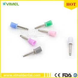 Wholesale Dental Cups - 100 Pcs Dental Materials Silicone Rubber Latch Flat Polishing Polisher Brushes Color Prophy Cups Dentist Products