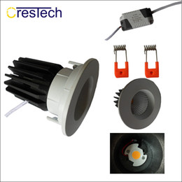 Wholesale 15w Led Chip - 12W 15W Adjustment LED grid downlight bridgelux COB chip high lumens LED ceiling lamp indoor using for home office commercial lamp