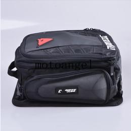 Wholesale Helmet Bags - DNS Motorcycle Tail Bag Tank Saddle Bags Sport Helmet Bags Racing Motobike Magnet Luggage Travel Accessories Black Baggage