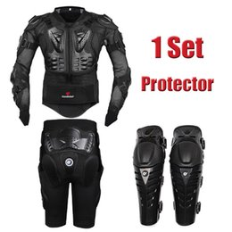 Wholesale Body Armor Protection - HEROBIKER Motorcycle Body Protection Motocross Racing Full Body Armor+ Gears Short Pants+protective Motocycle Knee Pad