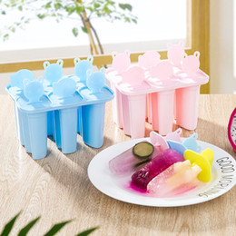 Wholesale Popsicle Moulds - 6 Grids DIY Popsicle Mould Plastic Ice Cream Mold Ice Pop Maker Summer Cooling Essentials