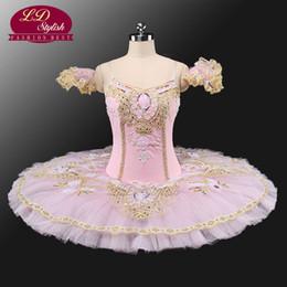 Wholesale Women Sleeping Beauty Costume - Classic Tutu Professional Girls Flower Fairy Ballet Tutu Performance Ballet Costumes Sleeping Beauty Pancake Tutu Costume LD0001